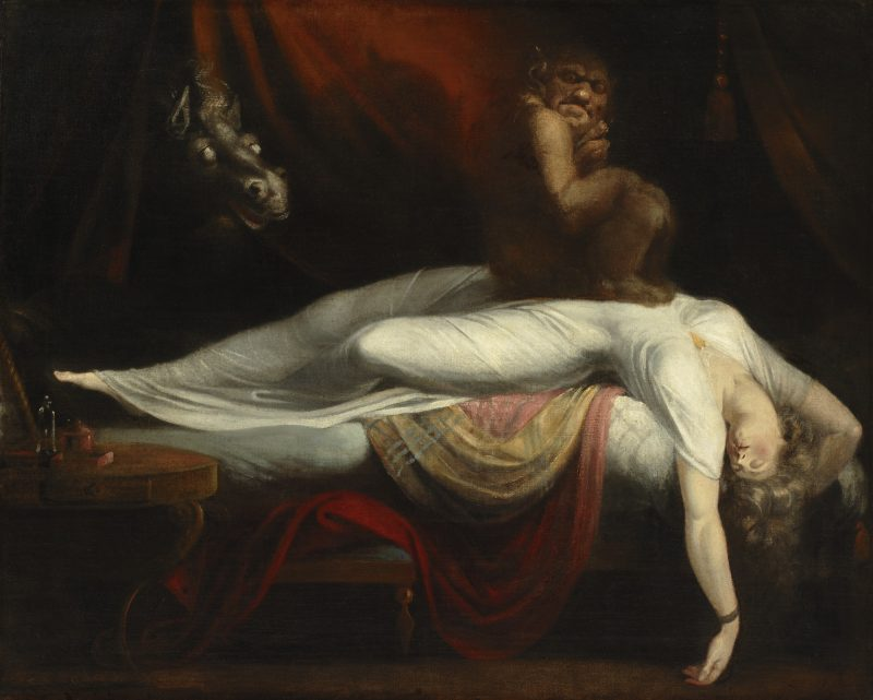 Henry Fuseli. The Nightmare. Oil on canvas, 1210 x 1473 x 89 mm