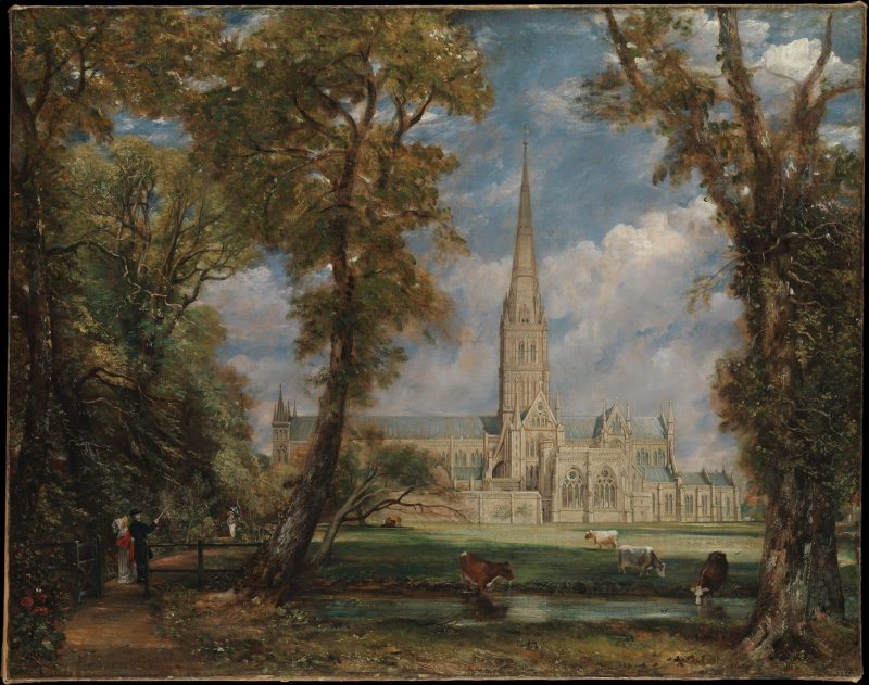 John Constable. Salisbury Cathedral from the Bishop's Grounds, ca. 1825