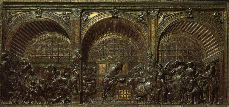 DONATELLO. Dall'altare maggiore: Il miracolo della mula (Padova, Basilica del Santo)