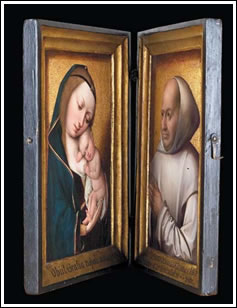 Master of the Magdalen Legend, Virgin and Child, 1490/1500, and unknown French artist, Willem van Bibaut, 1523