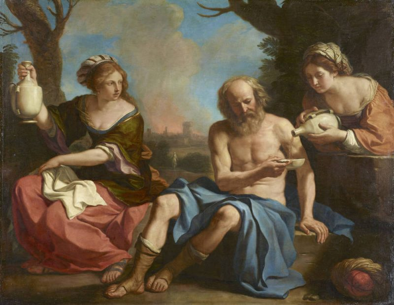 Lot and his Daughters. Guercino (Giovanni Francesco Barbieri)
