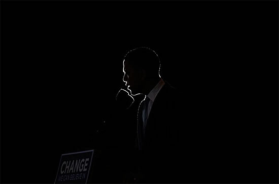Senator Obama speaking at the Izod Center at the Meadowlands, East Rutherford, N.J.