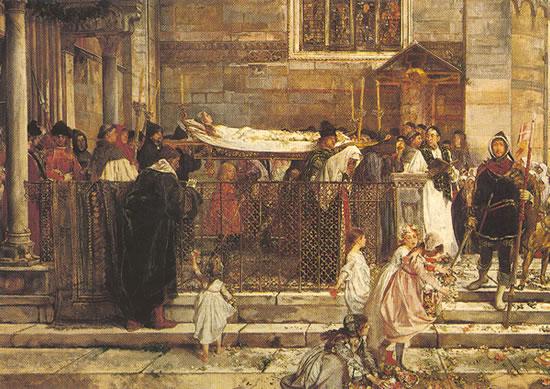 Detalle del cuadro <i>Los funerales de Julieta</i> de Scipione Vannutelli