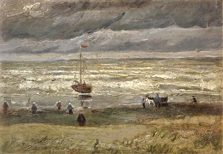Vista de la playa de Scheveningen