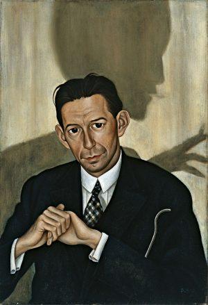 Christian Schad: Retrato del Dr. Haustein, 1928