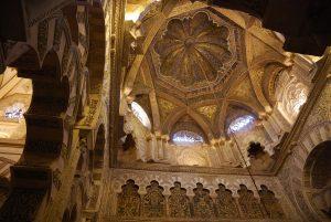Mezquita de Córdoba. La cúpula de nervaduras entrelazadas. Fotografía: Miguel Moliné