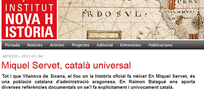 Miquel Servet, català universal