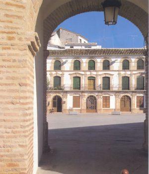 A la plaza de Archidona se accede por dos arcos de medio punto que son su comunicación con el trazado urbanístico de la localidad.
