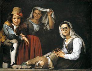 Bartolomé E. Murillo: Cuatro figuras en un escalón