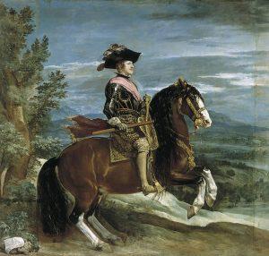 Diego Velázquez: Felipe IV, a caballo, 1635-36