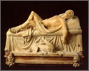 Monumento funerario con Adonis agonizante. Tuscania