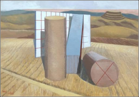 Paul Nash. Equivalents for the Megaliths, 1935. Oil on canvas. Support: 457 x 660 mm, frame: 627 x 835 x 80 mm