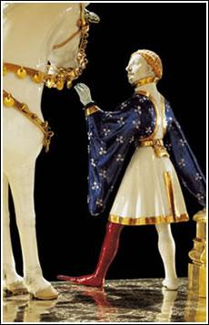 Goldenes Rössi: Cadeau d'étrennes d'Isabeau de Bavière à Charles VI le 1er janvier 1405