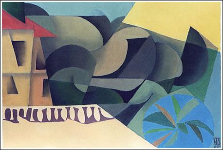 Pedro Martínez-Avial. Calpe, 2000. 38,5 X 55,5 cm. Oleo sobre lienzo
