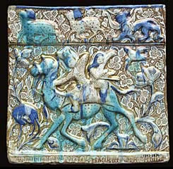 Lustre tile. Iran, from Takht-i Sulayman. 1270-80