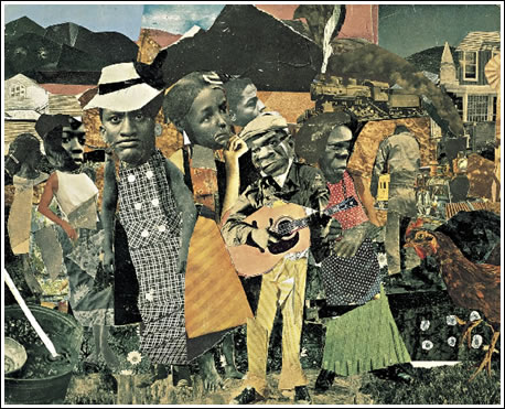 Romare Bearden: Watching the Good Trains Go By, 1964