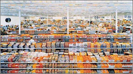 Andreas Gursky: 99 Cent II, 2001 (diptych). Monika Sprüth Galerie, Cologne