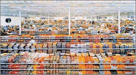 Andreas Gursky: 99 Cent II, 2001 (diptych). Monika Sprüth Galerie, Cologne