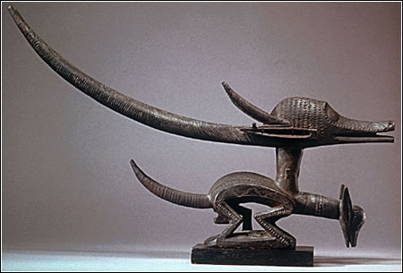 Double-Headed N'gonzon Koun Headdress, early 20th century