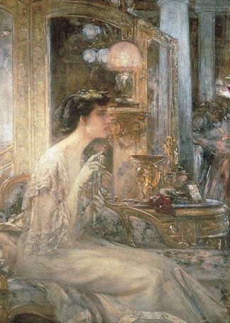 Desvallières. La esposa de Pascal Blanchard en una velada, 1903.