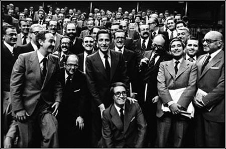 Verano de 1977. Grupo parlamentario de UCD, partido vencedor de las elecciones democráticas del 15 de junio. Daniel Blanco (EFE)