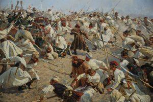 Detalle panorama de la Batalla de Racławice