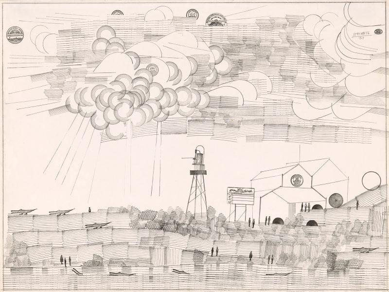 Saul Steinberg: Riverfront, 1969