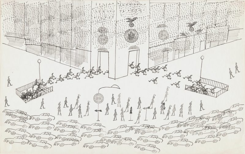Saul Steinberg: Untitled (Rush Hour), circa 1969.