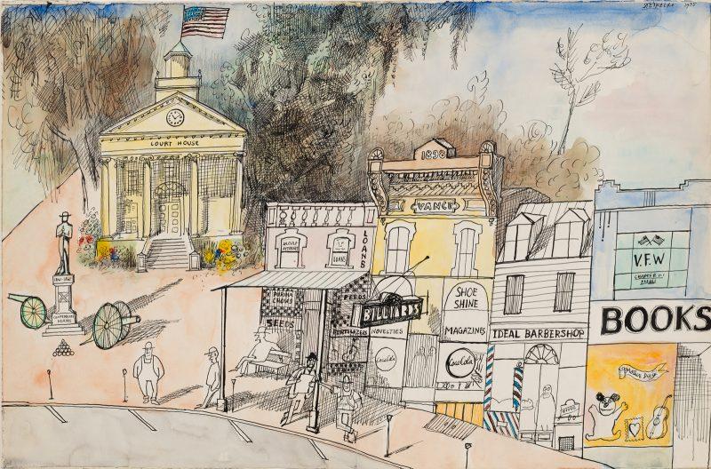 Saul Steinberg: The South, 1955.
