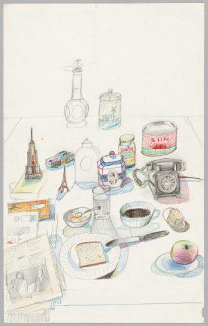Saul Steinberg: Breakfast Still Life, circa 1974.