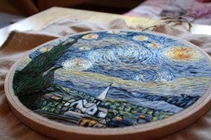 Bordado de una pintura de Van Gogh