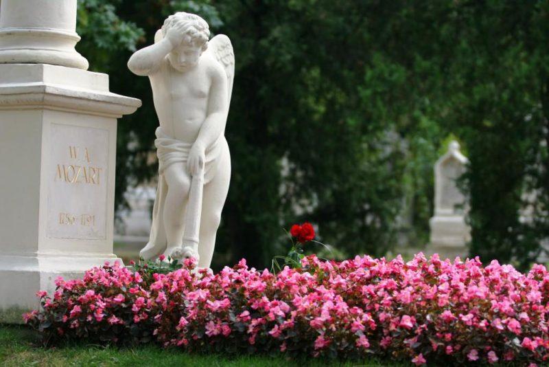 Tumba de Mozart en el Cementerio de St. Marx (Viena)
