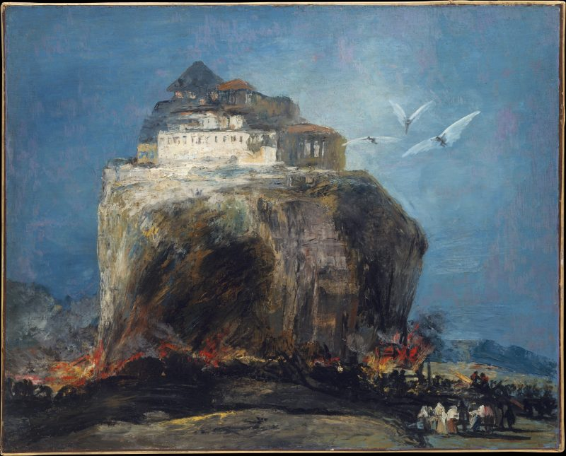 Goya: A City on a Rock. Oil on canvas; 33 x 41 in. (83.8 x 104.1 cm). The Metropolitan Museum of Art, New York.