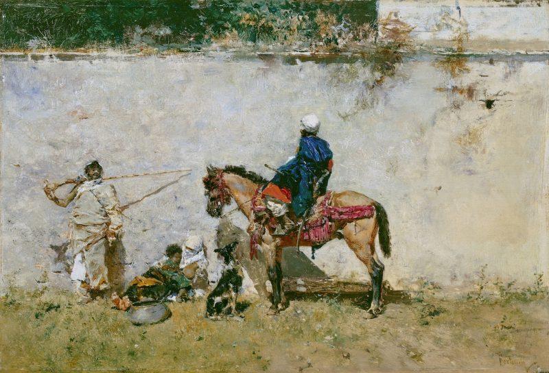 Marroquíes. 1872 - 1874. Óleo sobre tabla, 13 x 19 cm.