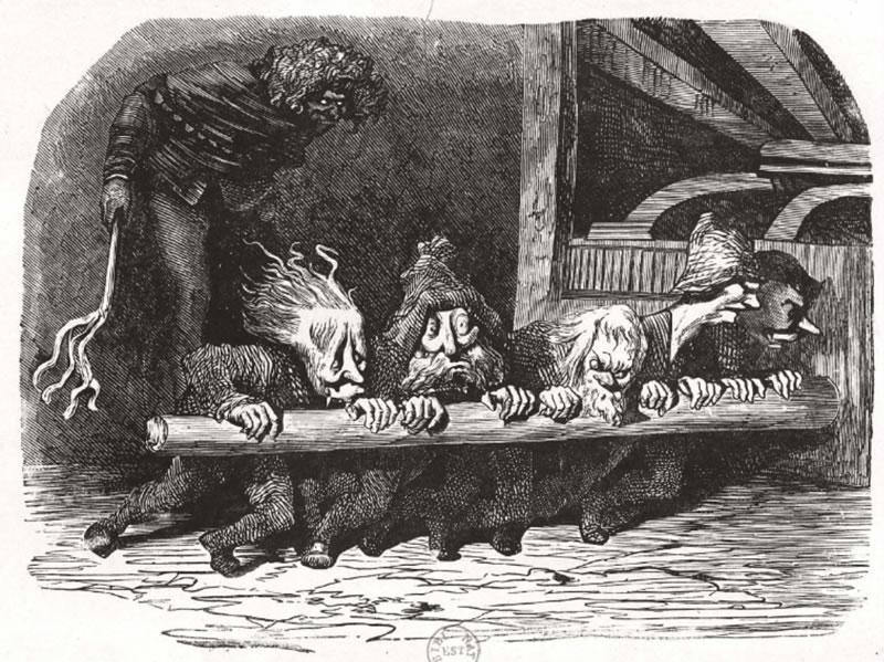 Gustave Doré: Ce sont les plus rébarbatifs villains, à les voir, que j'aie jamais apperçeu