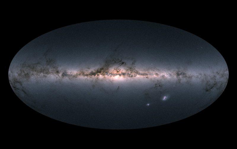 El cielo de Gaia en color