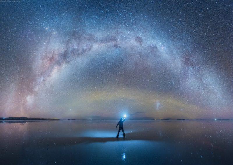 El cielo desde el salar de Uyuni (Fotografía: Daniel Kordan)
