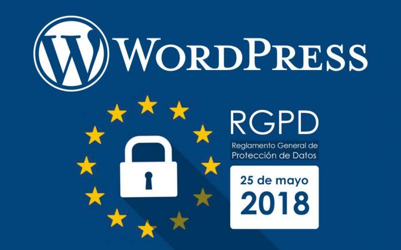 Reglamento de protección de datos (RGPD) y WordPress