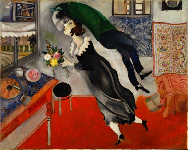 Chagall: El cumpleaños (L'anniversaire), 1915