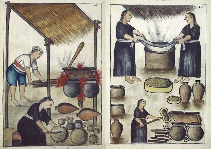 Elaboración de chicha (Códex Trujillo del Perú)