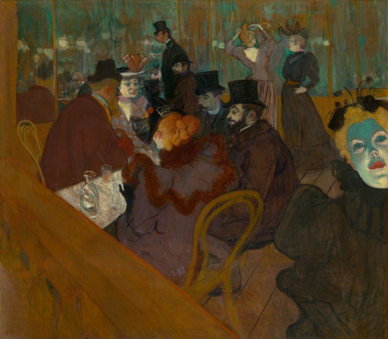 Henri de Toulouse-Lautrec: At the Moulin Rouge (1892/95). Art Institute of Chicago