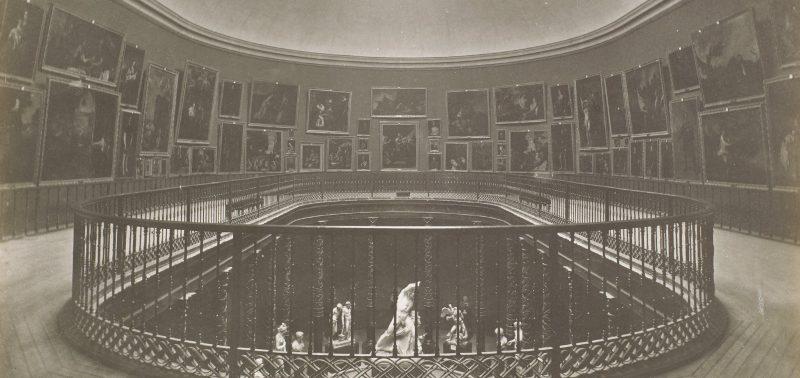 Museo del Prado, vista de la Sala de la Reina Isabel II. Juan Laurent y Minier. Positivo fotográfico | gelatina, colodión, 244 x 337 mm. h. 1879. Madrid, Museo Nacional del Prado