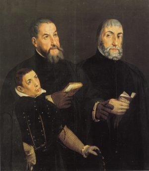 Pedro de Campaña - Don Diego, don Alonso Caballero y su hijo