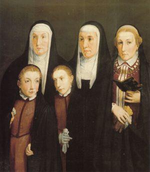 Pedro de Campaña - Doña Leonor, doña Mencía de Cabrera y sus hijas