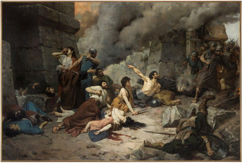 Alejo Vera y Estaca: Numancia. 1880 - 1881. Óleo sobre lienzo, 335 x 500 cm. Museo del Prado