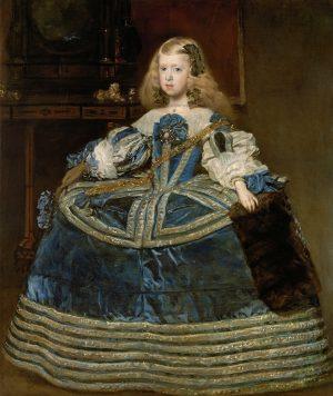 Diego Velázquez. La infanta Margarita en traje azul