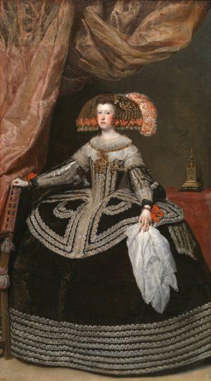Velázquez – La reina doña Mariana de Austria