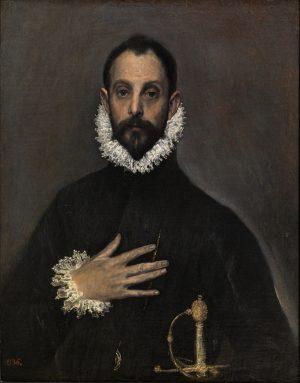 El Greco [1541-1614]: El caballero de la mano en el pecho», ca. 1577-1580