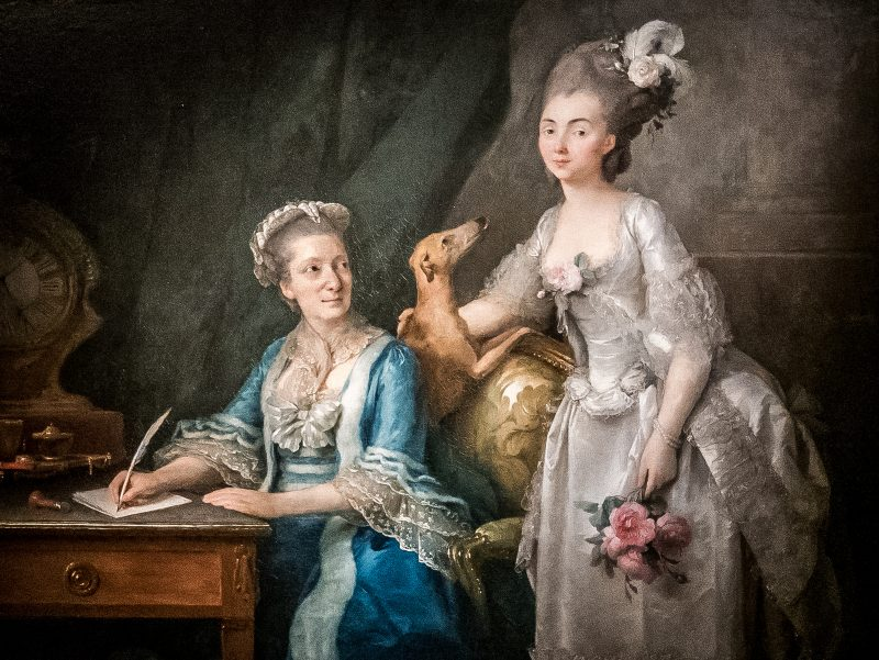 Anne Vallayer-Coster (1744–1818). Portrait of an Elderly Woman with Her Daughter. The Bowes Museum
