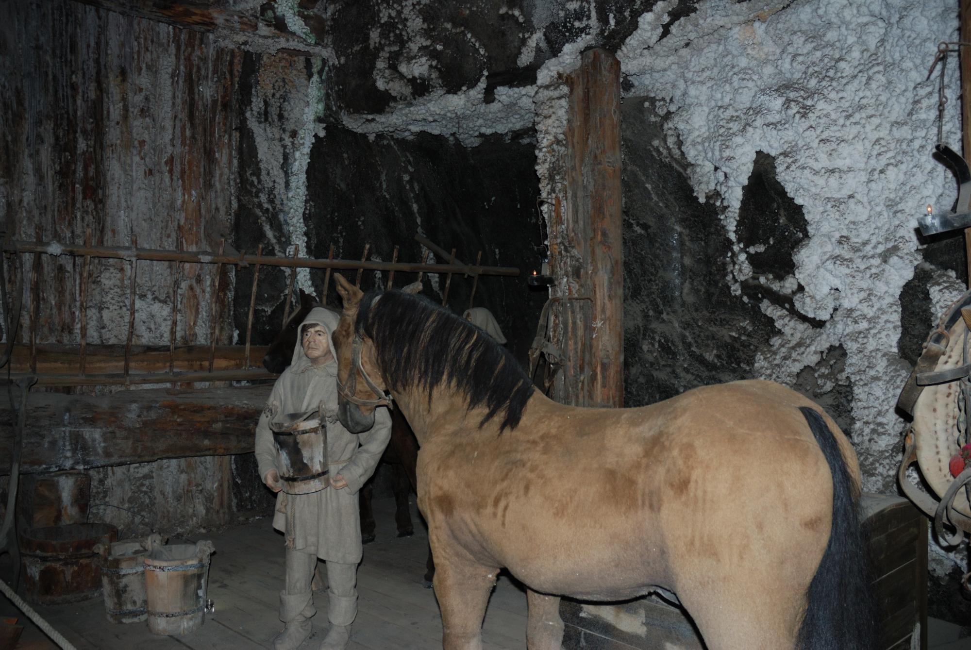 Minas de sal de Wieliczka. Representación trabajo